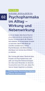 Psychopharmaka im Alltag – Wirkung und Nebenwirkung @ Gute Stube Historisches Rathaus